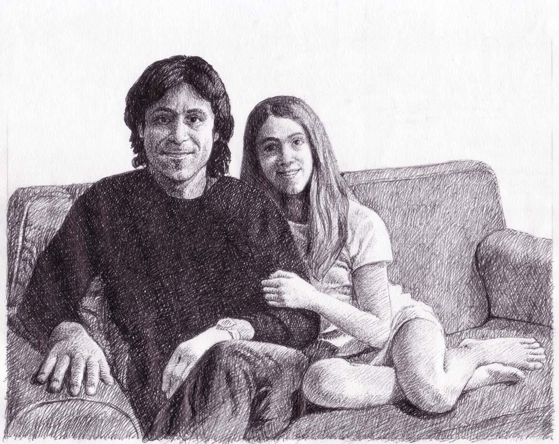 """Studio per """"Ritratto-di-famiglia"""" - 15x18 cm - 2009 - inchiostro su carta"""