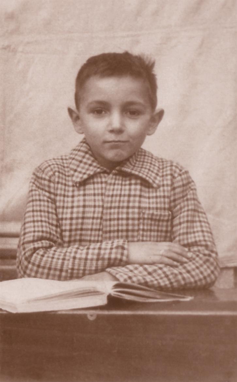Ricordo scolastico, Luigi Volpi alle scuole elementari di via  San Giacomo, Lodi, 1945/46