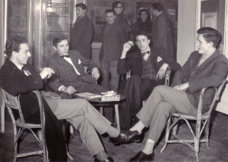 Da sinistra, Felice Vanelli, Luigi Volpi, Ugo Maffi, Attilio Ronchetti - Lodi - 1958