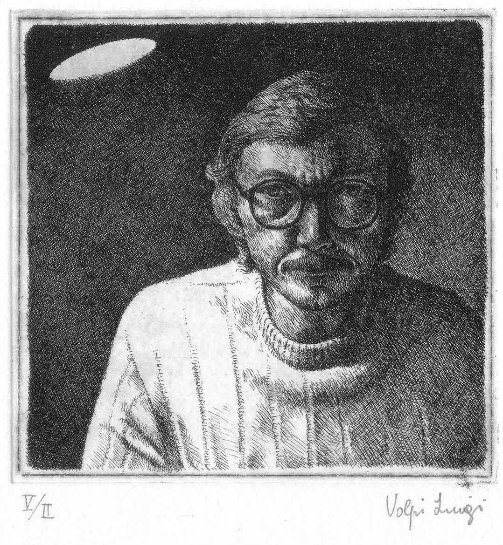 Autoritratto - 11x11 - 1983 - acquaforte