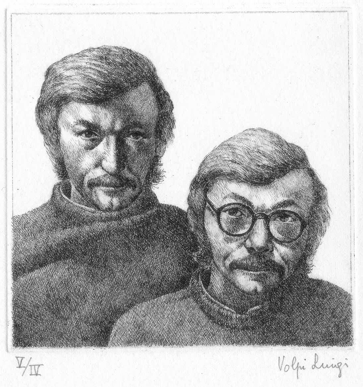 Doppio autoritratto - 11x11 - 1983 - acquaforte