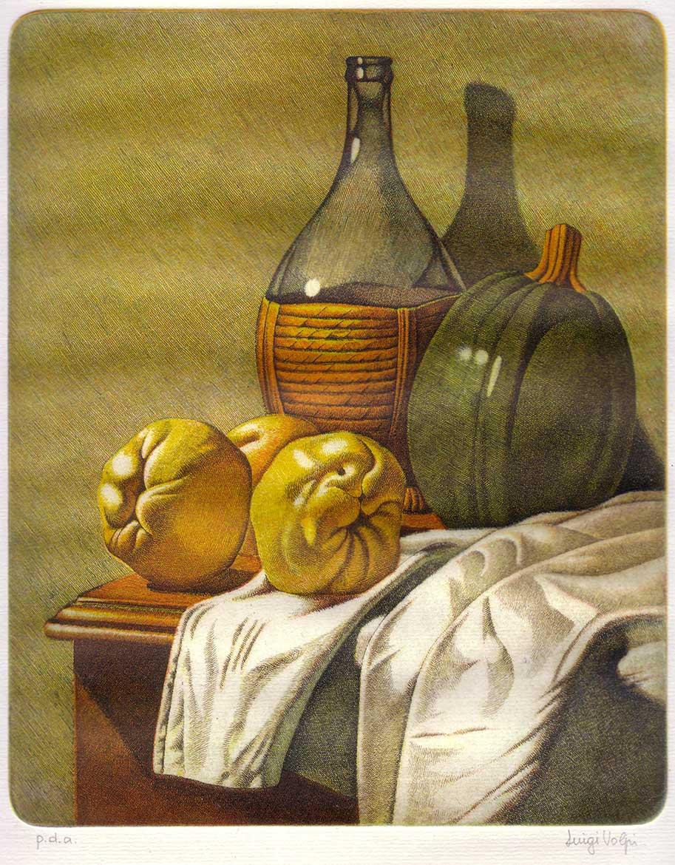 Le mele cotogne - 25x20 - 1986 - acquaforte quattro matrici