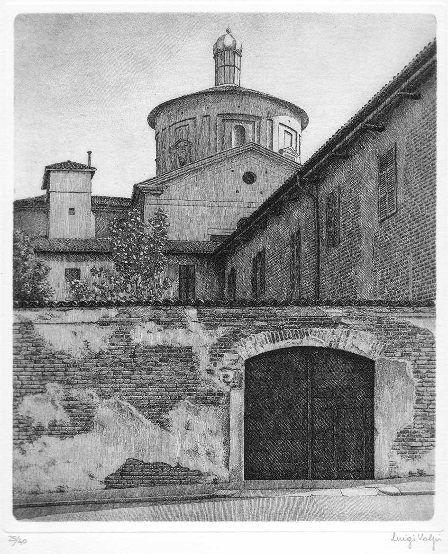 Via della Costa (Lodi) - 24x20 cm - 1992/1993 - acquaforte