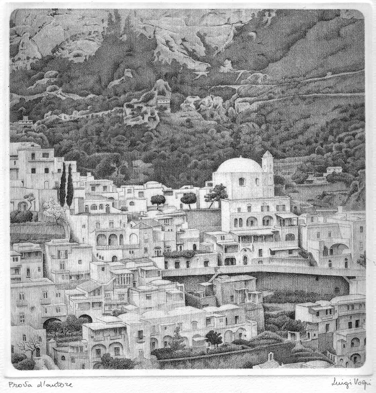 Positano - 20x20 cm - 1998 - acquaforte