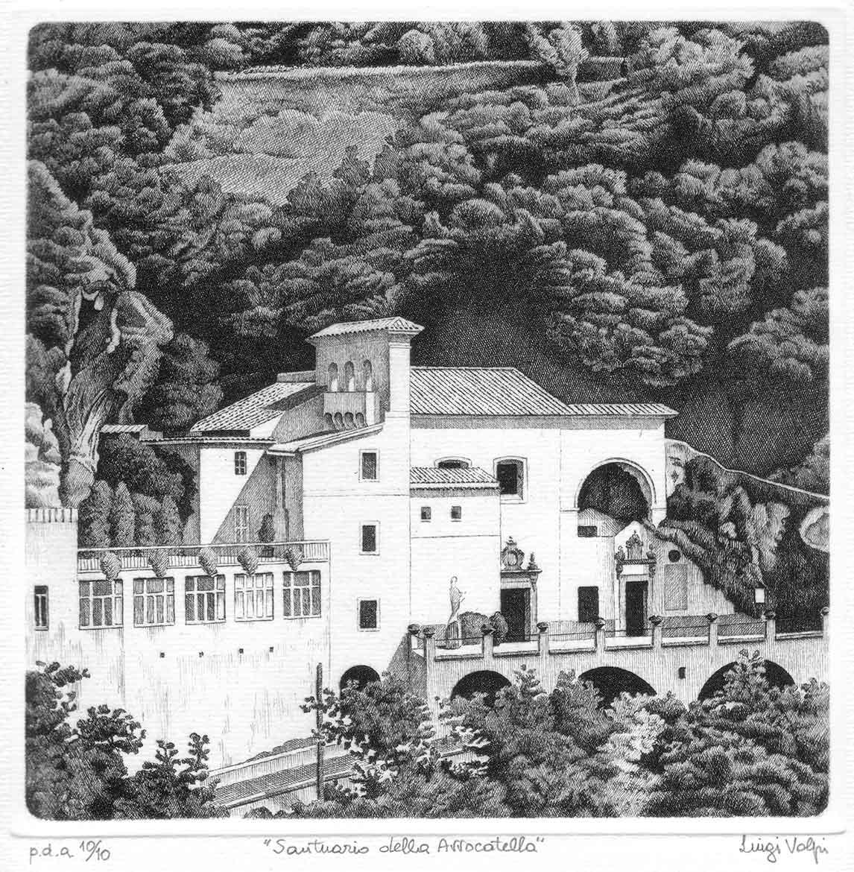 Santuario della Avvocatella - 20x20 cm - 1999 - acquaforte