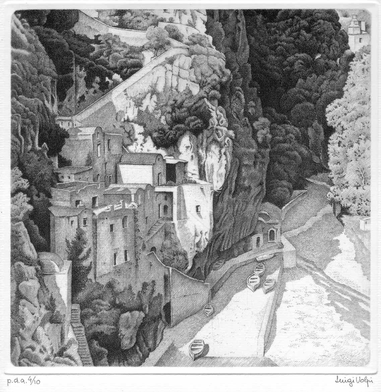 Fiordo di Furore - 20x20 cm - 2000- acquaforte