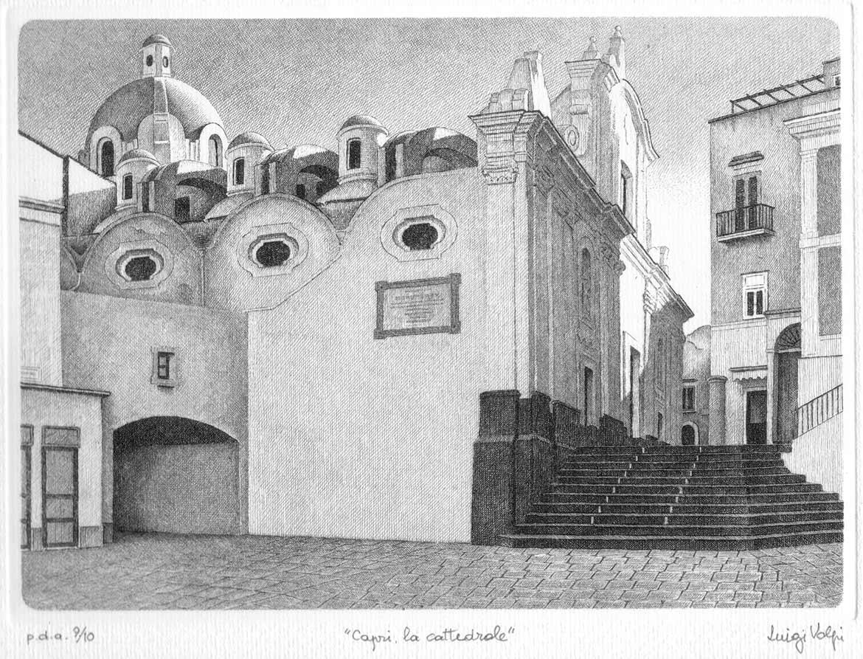 Capri, la Cattedrale - 18x25 cm -  2005 -  acquaforte