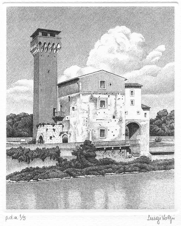 Cittadella vecchia (Ia storia) - 16x13 cm - 2006 - acquaforte