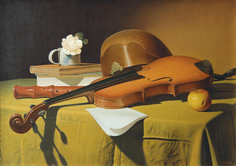 Alla maniera di Baschenis, 35x50 cm, olio su tela, 2006