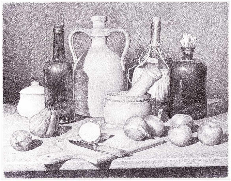 Alla maniera di Carlo Magini - 21x27 cm - 1994 - matita su carta