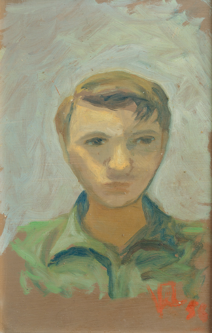 Autoritratto - 30x20 cm - 1956 - olio su masonite