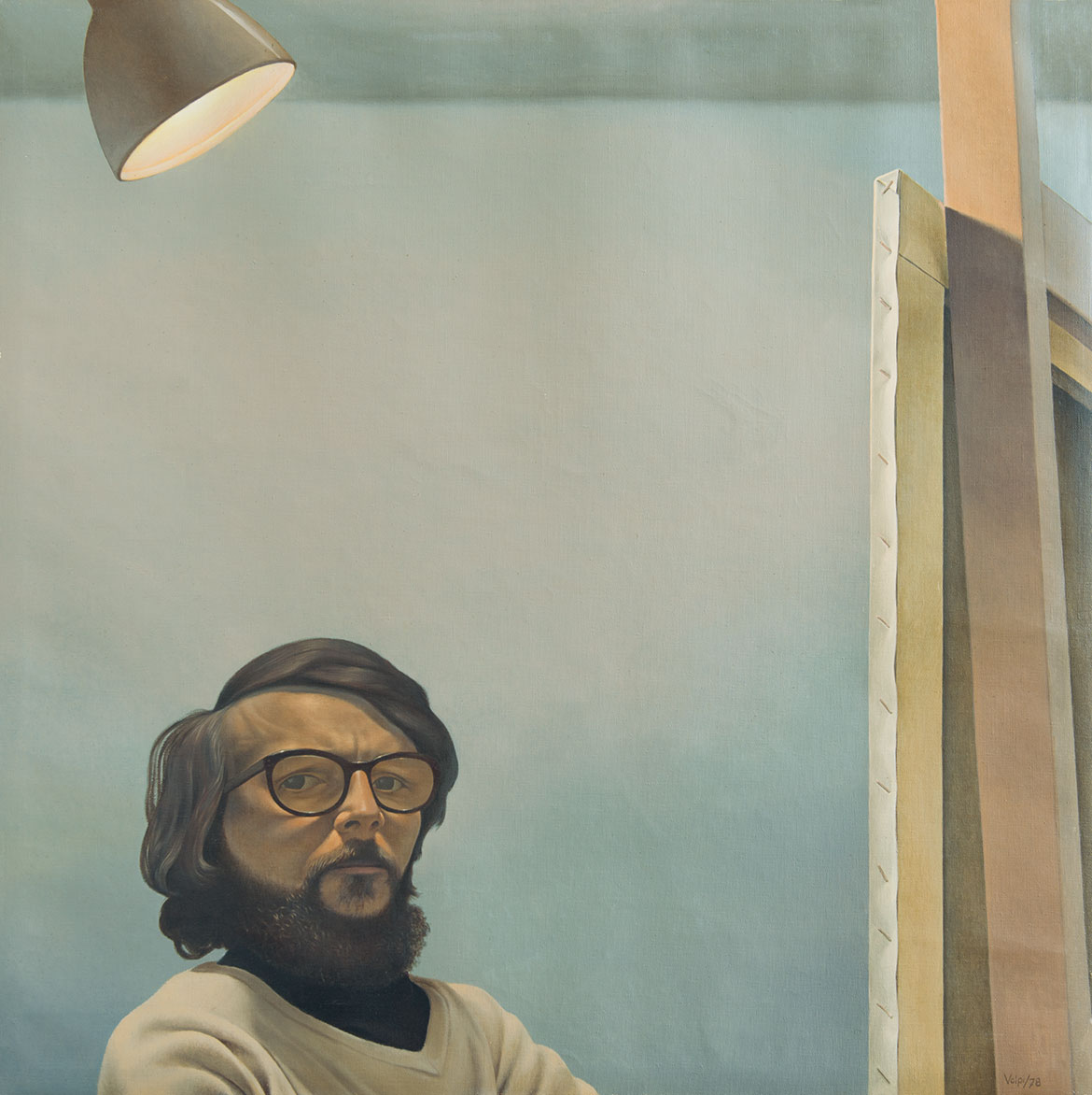 Autoritratto - 79x80 cm - 1974 - olio su tela