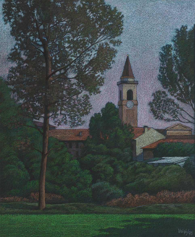 Borghetto Lodigiano - 23x19 cm - 1995 - Pastello su carta