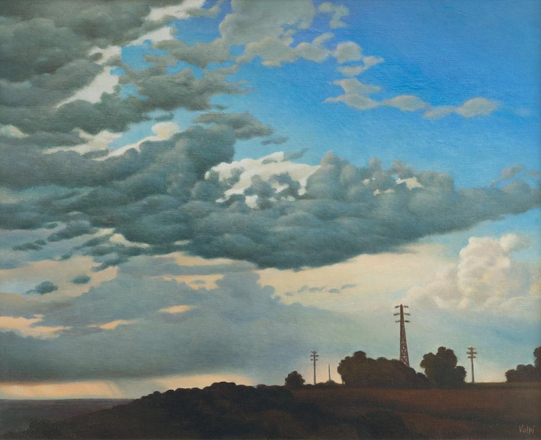 Cielo in campagna - 40x50 cm - 1984 - olio su tela