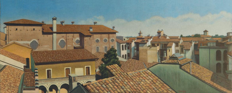 Dalla finestra della Cinzia - 20x51 cm - 2007 - olio su tel