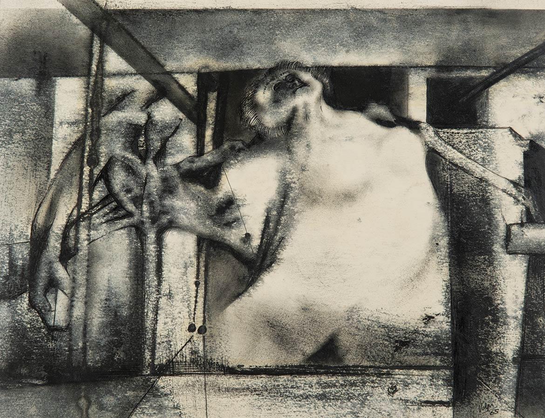 Figura imprigionata - 25x33 cm - 1965 - inchiostro su carta