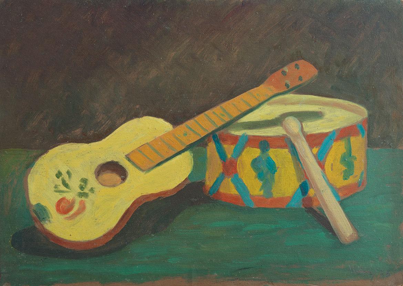 Giochi musicali - 21x31 cm - 1953 - olio su masonite