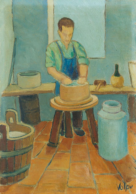 Il lavoratore - 53x37 cm - 1955 - olio su tela