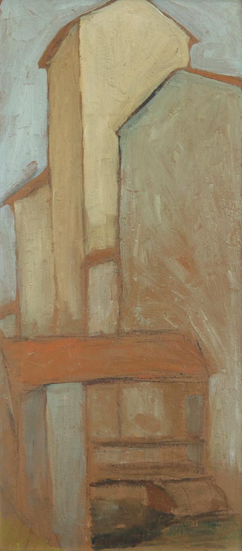 Il mulino Tosi - 58x26 cm - 1956 - olio su masonite