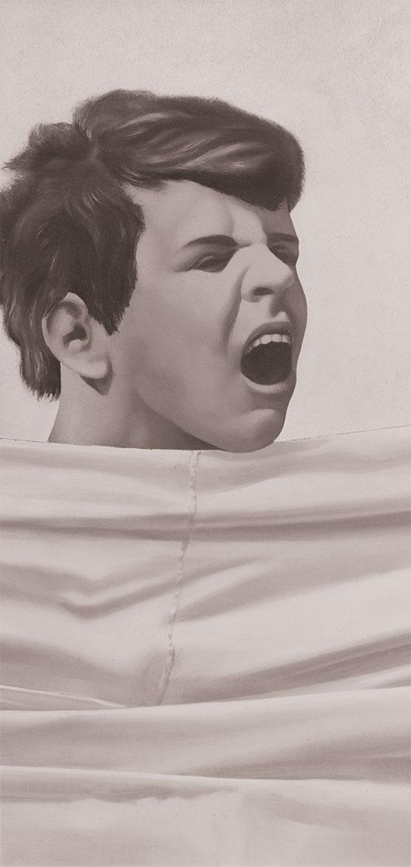 Urlo uno, 60x30 cm, 1972, olio su tela
