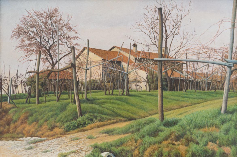 La 'muccia' - 40x60 cm - 2000 - olio su tela