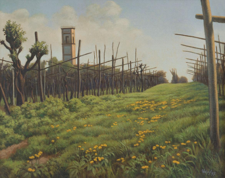 La nuova erba - 24x30 cm - 1997 - olio su tela