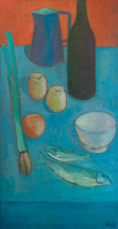 Natura morta - 82x41 cm - 1962 - olio su tela