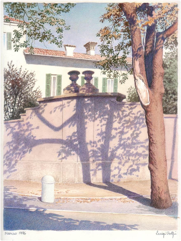 Ombre, via IV Novembre, Lodi - 26x20 cm - 1996 - pastello su carta