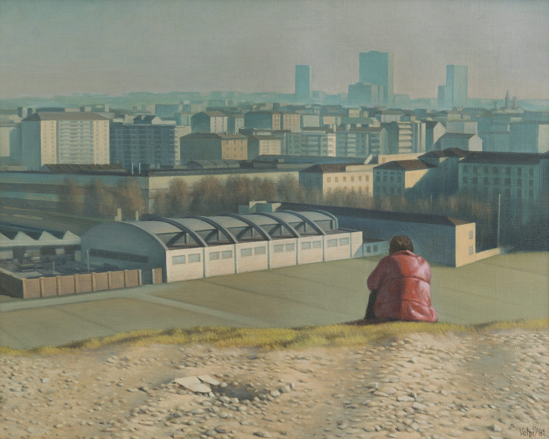 Paesaggio con figura - 40x50 cm - 1981 - olio su tela