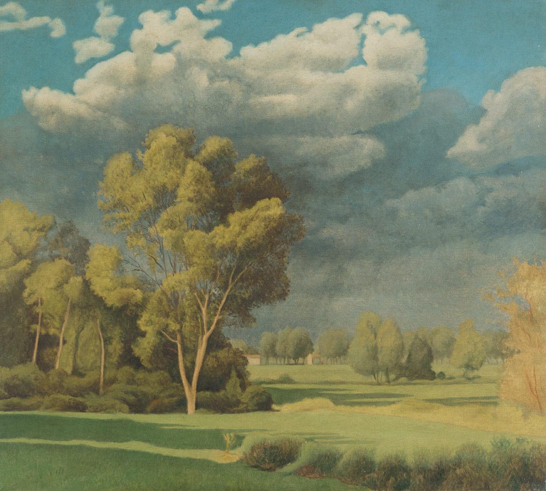 Paesaggio con temporale - 45x50 cm - 1996 - olio su tela