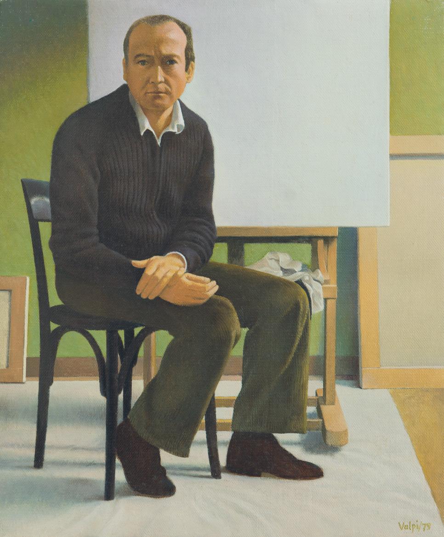 Piccolo ritratto (il pittore Alberto Venditti) - 30x24 cm - 1979 - olio su tela