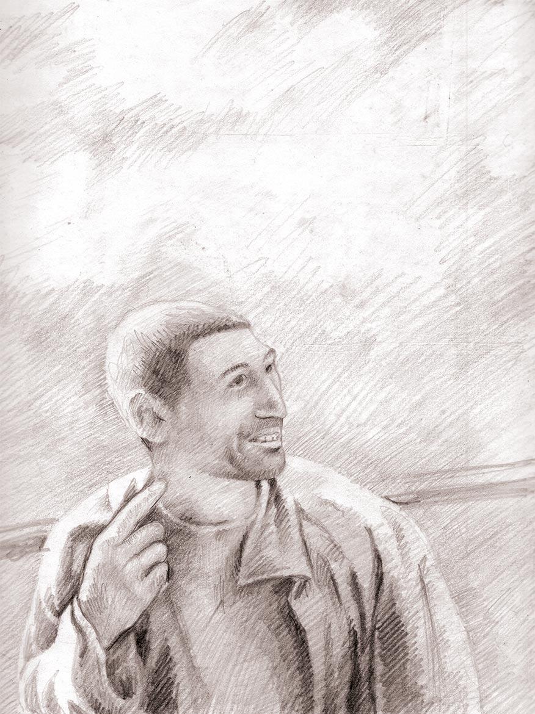 Figura, 30x21, 1969, matita su carta