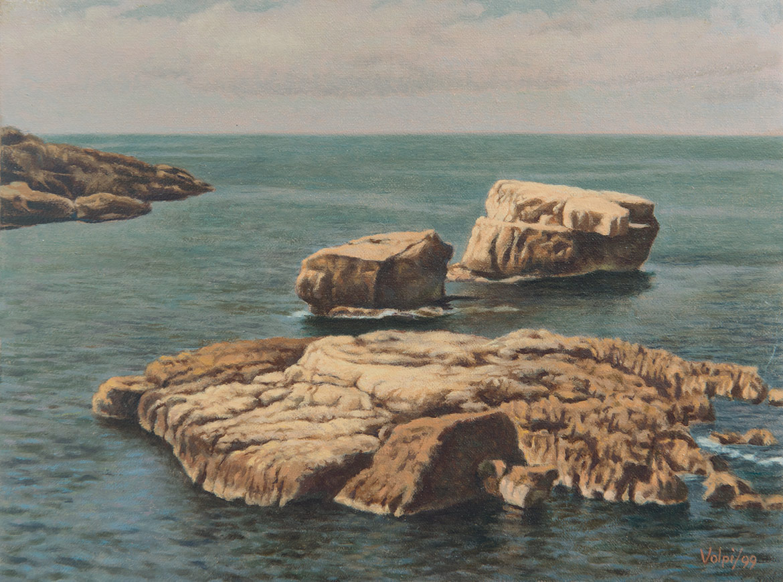 Ruderi di mare - 18x24 cm - 1999 - olio su tela
