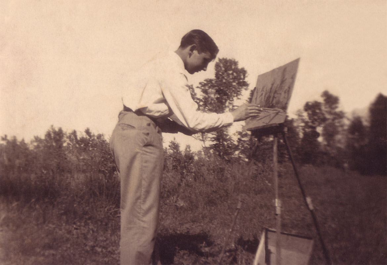 Luigi Volpi sulle rive dell'Adda - Lodi - anni '60