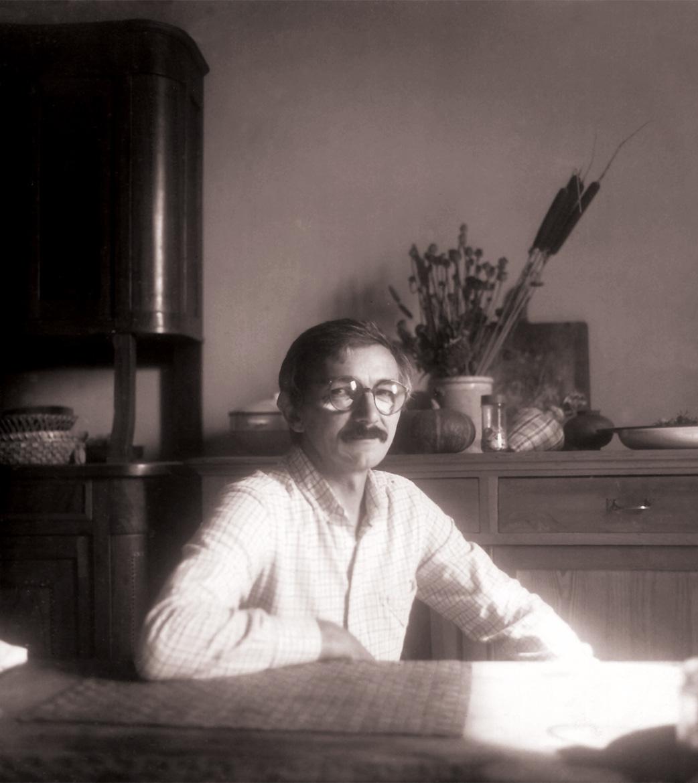 Luigi Volpi nella casa di Valbissera - San Colombano al Lambro - 1987