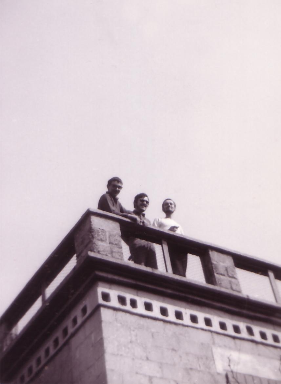 Luigi Volpi (a sinistra) e NArciso Bonomi (al centro) - Milano - primi anni '70
