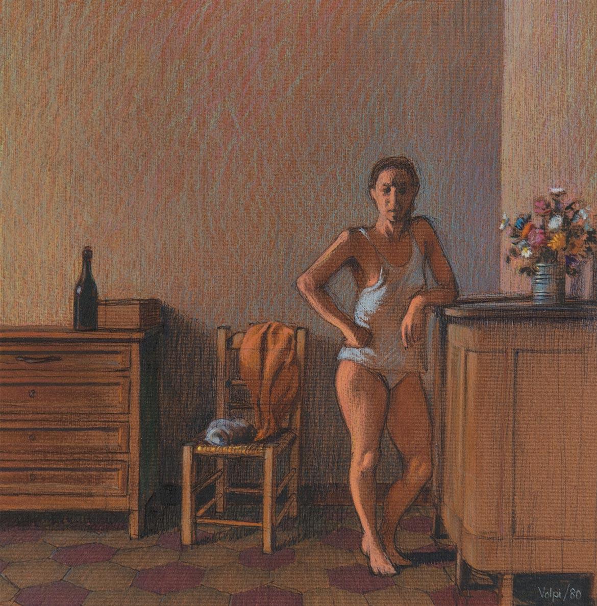 "Studio per ""ida"" - 23x24 cm - 1980 - pastello su carta"