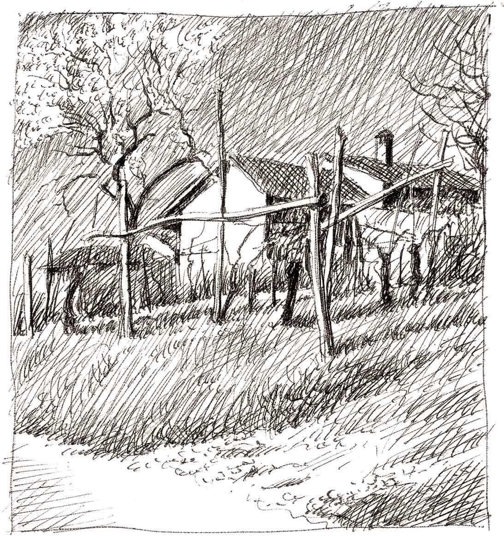 Valbissera (San Colombano al Lambro), 10x11 cm, 1992, inchiostro su carta