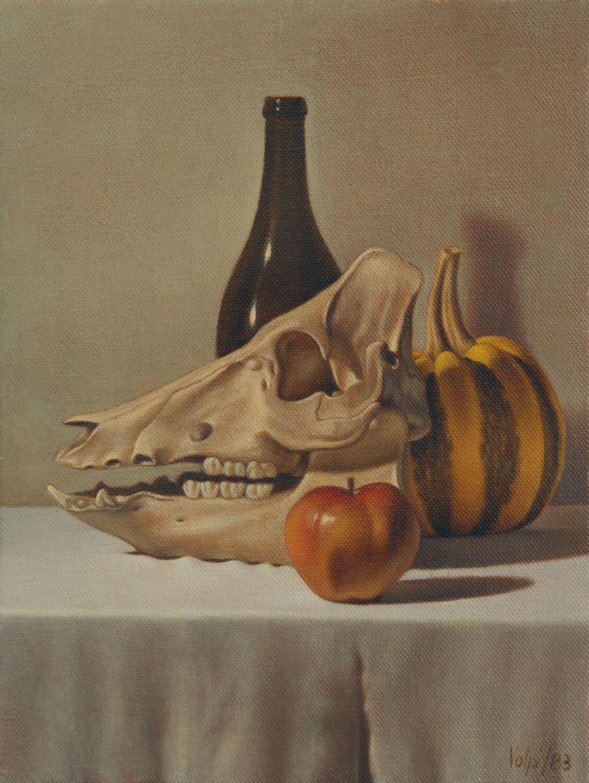 Vanitas 1 - 24x18 cm - 1983 - olio su tela